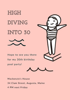 HIGH DIVING INTO 30  Party