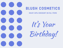 Blue Birthday Cosmetics Shop Discount Coupon Makeup