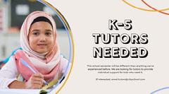 Schoolgirl Photo Tutors Wanted Facebook Post Tutor Flyer