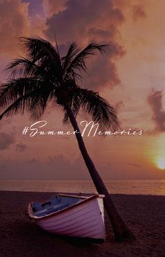 Sunset Beach Summer Memories Poster Sunset