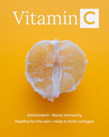Yellow Vitamin C Healthy Food Infographic Infographic
