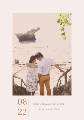 couples photo save the date card  Tarjeta para guardar la fecha