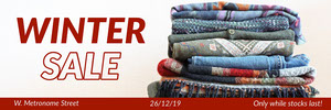 Winter Sale Fashion Store Horizontal Ad Banner Ads Banner
