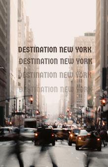 Grey and cream Destination New York Poster Affiche