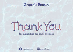 Blue and Violet Thank You Card Beauty