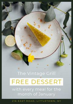 free dessert flyer Food Flyer