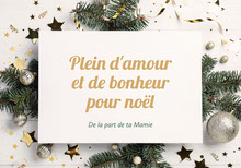 White Green Decorations Christmas From Grandma Card Cartes