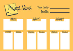 Yellow Project Brainstorming Sheet Yellow