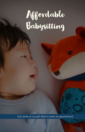 Affordable Babysitting  Babysitting Flyer