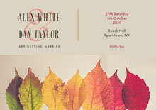 Grey With Colorful Leaves Wedding Invitation Wedding Invitation