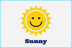 Illustrated Sunny Weather Flashcard Sun