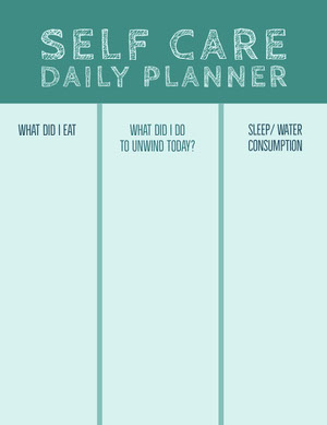 SELF CARE DAILY PLANNER Planner