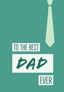 Green and White Father's Day Card Biglietti elettronici per la festa del papà