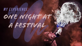 One night at<BR>a festival