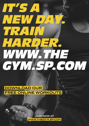 Black, White and Yellow, Gym Workout Ad, Flyer COVID-19 Re-opening