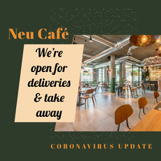 open for delivery take away cafe Instagram square  COVID-19 Re-opening