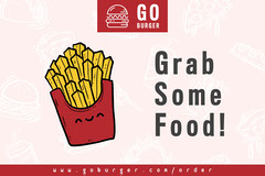 Red and Yellow French Fries Illustration Fast Food Ad Flyer Food Flyer