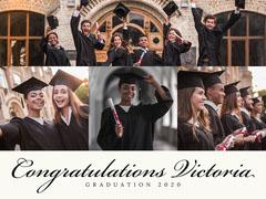 Traditional Five Picture Graduation Album Cover Graduation Congratulation