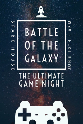 BATTLE OF THE GALAXY Party Flyer