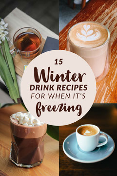 Winter Drink Recipes Pinterest Graphic Drink