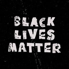 Black and White Grunge Style Black Lives Matter Instagram Square Black And White