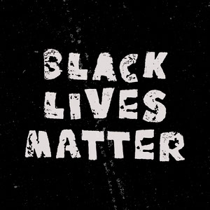 Black and White Grunge Style Black Lives Matter Instagram Square Black Lives Matter Collection