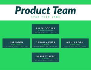 Green Simple Organization Chart 조직도