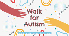 Colorful Doodles and Hands Autism Event Facebook Banner Event Banner