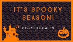 Orange Spooky Haunted House and Pumpkin Halloween Party Gift Tag Halloween Gift Tag