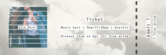 Grey and Blue Album Launch Event Ticket Event Ticket