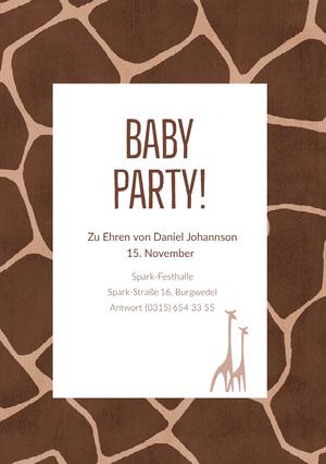 baby giraffe baby shower invitations  Einladung zur Babyparty