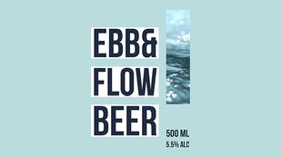 Ebb& Flow beer Rótulo de cerveja