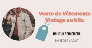 Pink and orange Vintage Kilo Sale - Facebook Ad Flyer publicitaire