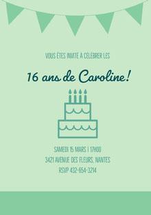 16ans de Caroline! Carte d'anniversaire