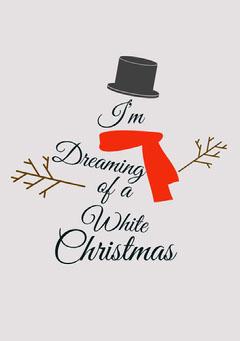 Winter whit Christmas Snowman card Christmas