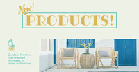 Yellow and Blue Furniture Store Facebook Post Ad Photo de produit Amazon
