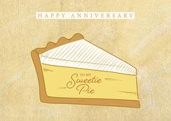 Yellow Sweetie Pie Anniversary Card Dessert