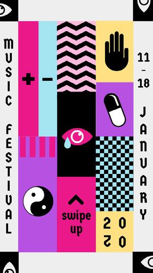 music festival Instagram story Music Festival Poster