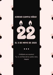 ¡Karina cumple años!  Invitación