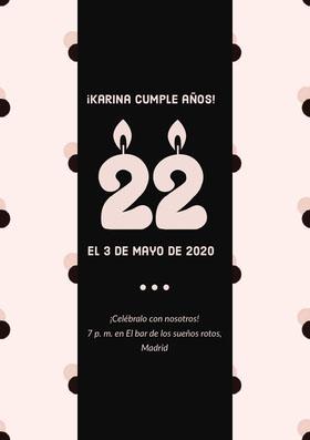 ¡Karina cumple años!  Invitación de cumpleaños