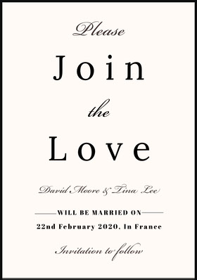 Join <BR>Love Save the date-kort