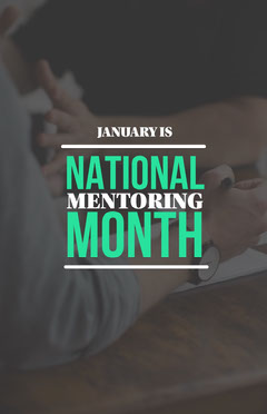 Dark Toned National Mentoring Month, Poster Tutor Flyer