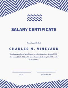 Salary Certificate Tax Flyer