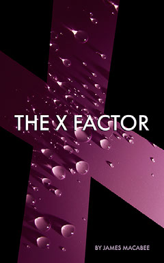 Purple and Black The X Factor Book Cover  Water
