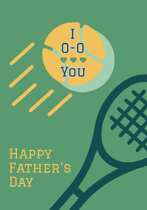 Green and Yellow Happy Father's Day Card Father's Day Messages
