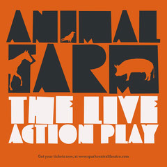 Grey, Orange and White Animal Farm Play Ad Instagram Post Animal