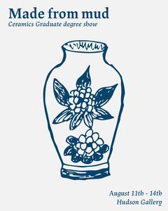 Blue & White Ceramics Degree Show Poster Art Show