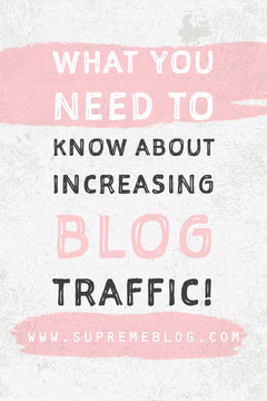 Pink and White Increasing Blog Traffic Pinterest Marketing