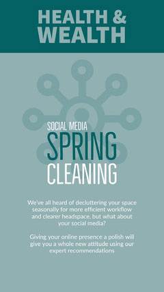 Blue and White Spring Cleaning Social Post Social Media Flyer