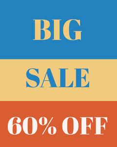 Blue and Orange Sale Advertisement Promotion